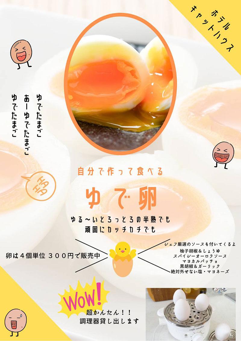 自分で作って食べるゆで卵~♪